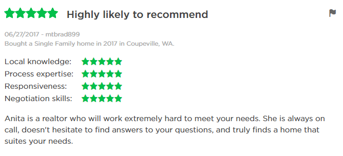 anita Johnston Windermere Zillow Review