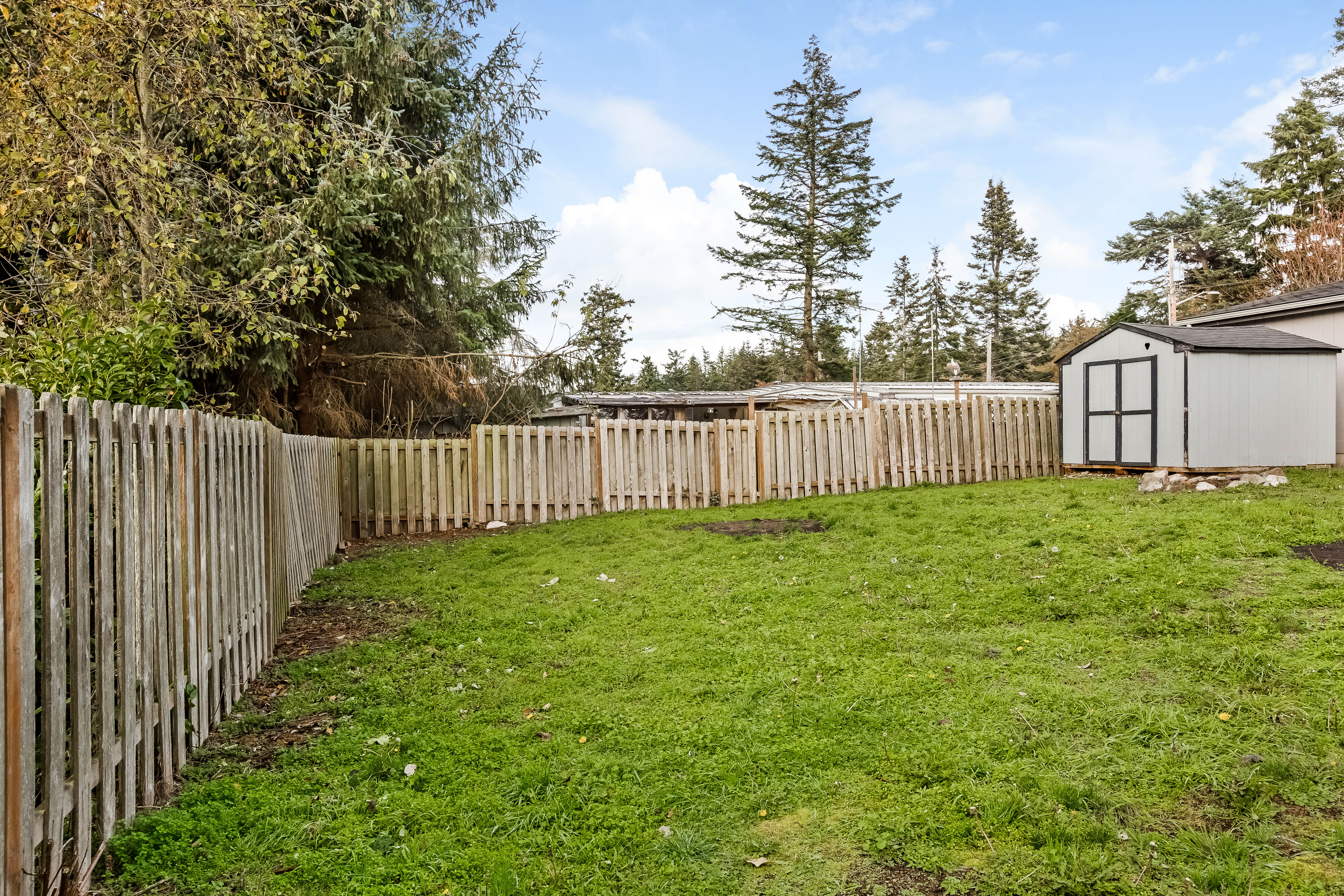 Fenced in back yard, Shed, 3 bedroom